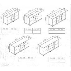 Комоды плазма на 3 ящика 2 двери